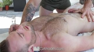GayRoom Military workout massage fuck with Aiden Hart 8 min
